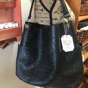 Handbag Republic Classic Vegan Black Bucket Bag